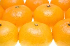 Grupo de tangerines Fotos de Stock Royalty Free