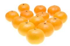 Grupo de tangerines Foto de Stock Royalty Free