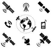 Grupo de tecnologia satélite sem fio Foto de Stock