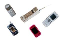 Grupo de teléfono móvil del vintage fotografía de archivo