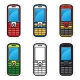 Grupo de telemóveis ilustração do vetor