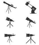 Grupo de telescópios ilustração do vetor