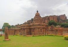 Grupo de templos hindu indianos, Badami de Bhutanatha Imagem de Stock