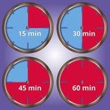Grupo de temporizador de 4 ícones Imagem de Stock Royalty Free