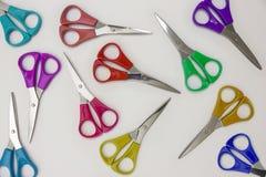 Grupo de tesouras coloridas Imagens de Stock Royalty Free