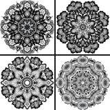 Grupo de teste padrão de quatro ornamental. ilustração stock