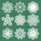 Grupo de teste padrão oriental do vetor com arabesque e elementos florais Ornamento tradicional Vetor Fotos de Stock