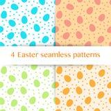 Grupo de teste padrão sem emenda com ovos da páscoa, às bolinhas Imagens de Stock Royalty Free