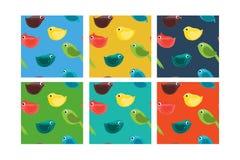 Grupo de teste padrão sem emenda com pássaros Fotografia de Stock Royalty Free