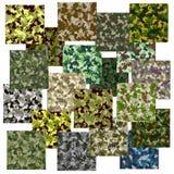 Grupo de teste padrão sem emenda da camuflagem Fotos de Stock