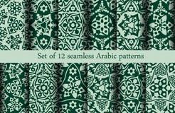 Grupo de 12 testes padrões árabes Imagens de Stock