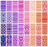 Grupo de 24 testes padrões ilustração stock