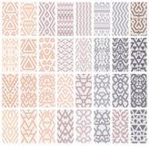 Grupo de 24 testes padrões ilustração royalty free