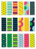 Grupo de 18 testes padrões abstratos Fundos sem emenda da cor Imagem de Stock
