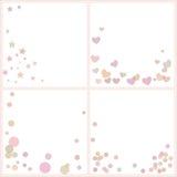 Grupo de testes padrões com formas geométricas coloridas Imagem de Stock Royalty Free