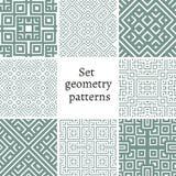 Grupo de testes padrões decorativos para fundos e texturas Foto de Stock