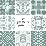 Grupo de testes padrões decorativos para fundos e texturas Imagem de Stock
