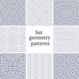 Grupo de testes padrões decorativos para fundos e texturas Foto de Stock Royalty Free