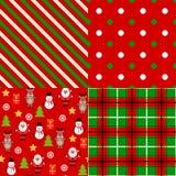 Grupo de testes padrões do Natal Foto de Stock