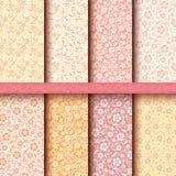 Grupo de testes padrões florais do vintage sem emenda. Ep do vetor Foto de Stock