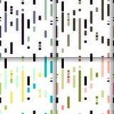 Grupo de testes padrões geométricos modernos coloridos sem emenda Fotografia de Stock Royalty Free