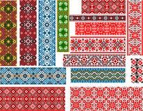 Grupo de testes padrões para o ponto do bordado Fotos de Stock Royalty Free