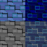 Grupo de testes padrões quadrados retros da forma Imagens de Stock