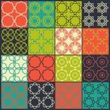 Grupo de 16 testes padrões sem emenda Foto de Stock