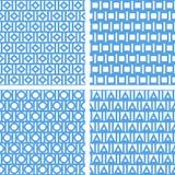 Grupo de testes padrões sem emenda abstratos Foto de Stock