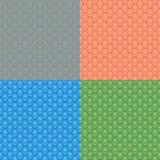 Grupo de 4 testes padrões sem emenda abstratos Imagem de Stock