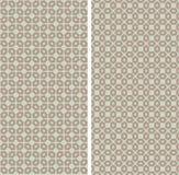 Grupo de 2 testes padrões sem emenda abstratos Fotografia de Stock Royalty Free