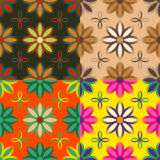Grupo de testes padrões sem emenda das flores Foto de Stock
