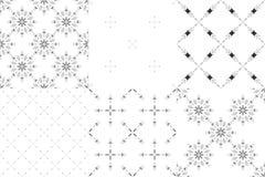 Grupo de 6 testes padrões sem emenda do minimalismo tribal Imagens de Stock