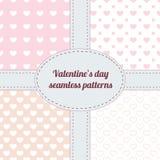 Grupo de testes padrões sem emenda do Valentim Imagens de Stock Royalty Free