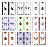 Grupo de testes padrões sem emenda do vetor, fundos geométricos simétricos Fotos de Stock