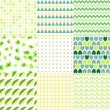 Grupo de testes padrões sem emenda elegantes coloridos Imagem de Stock