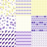 Grupo de testes padrões sem emenda elegantes coloridos Fotos de Stock Royalty Free