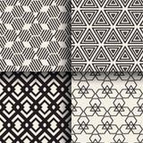 Grupo de testes padrões sem emenda geométricos abstratos Fotografia de Stock