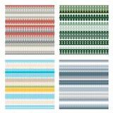 Grupo de 4 testes padrões sem emenda geométricos coloridos diferentes Fotografia de Stock