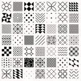 Grupo de testes padrões sem emenda geométricos, triângulos, linhas, círculos Fotografia de Stock Royalty Free