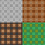 Grupo de testes padrões simétricos Fotos de Stock Royalty Free