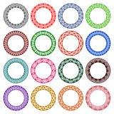 Grupo de testes padrões circulares no céltico que ata o estilo Fotos de Stock Royalty Free