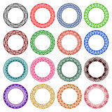 Grupo de testes padrões circulares no céltico que ata o estilo Imagens de Stock Royalty Free