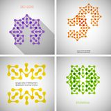 Grupo de testes padrões coloridos da tecnologia Imagens de Stock