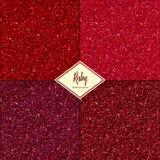 Grupo de textura do rubi Imagens de Stock Royalty Free