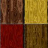 Grupo de textura sem emenda da prancha de madeira Ilustração Stock