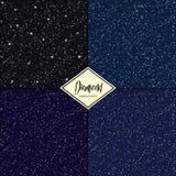 Grupo de textura sem emenda do diamante Fotos de Stock