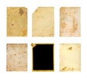Grupo de textura velha do papel da foto Foto de Stock Royalty Free