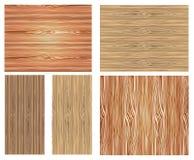Grupo de texturas de madeira Imagem de Stock Royalty Free
