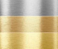 Grupo de texturas escovadas do metal Imagens de Stock Royalty Free